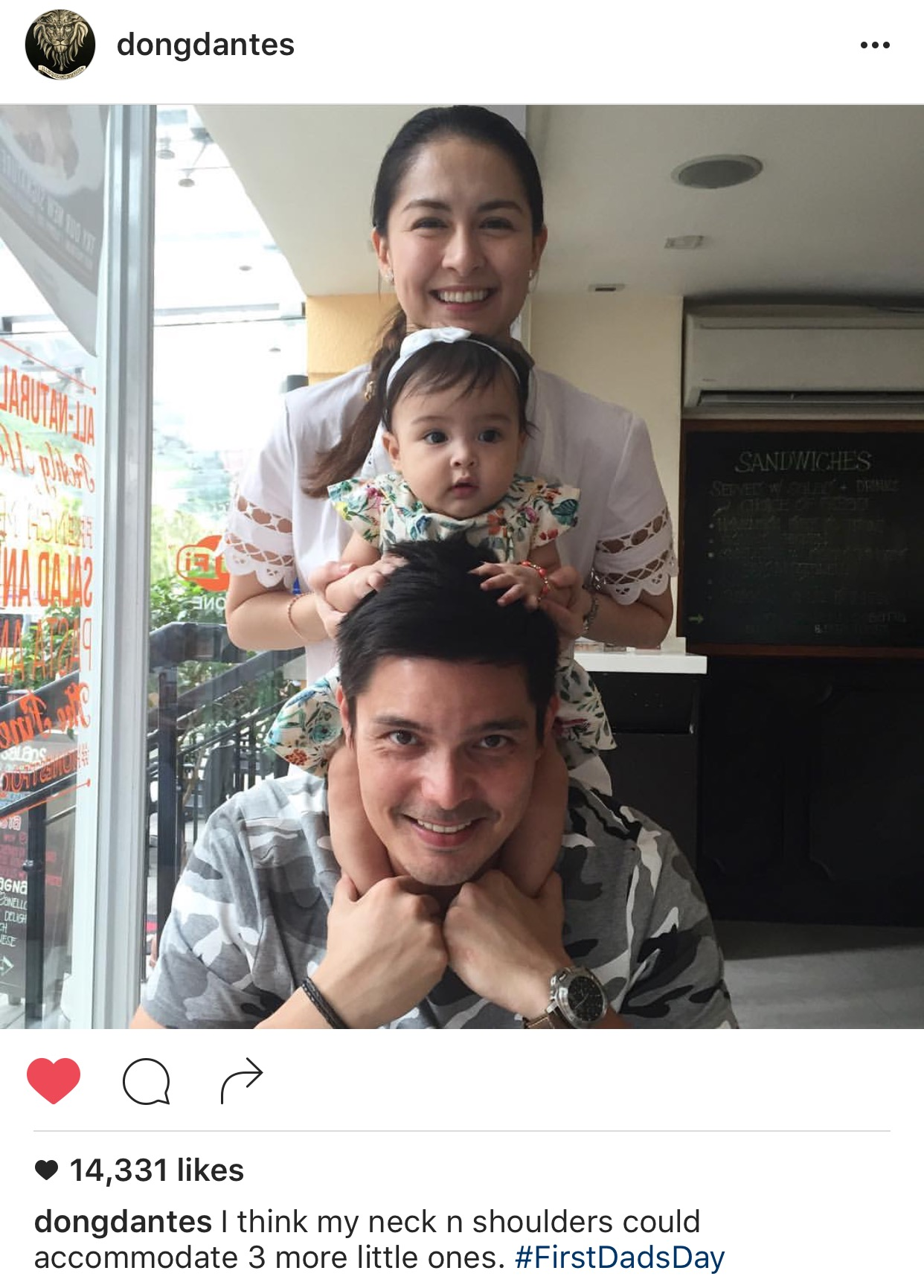 Dingdong's first Dad's Day with Marian & Baby Zia! - Team ...