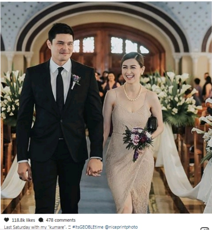 Wedding Principal Sponsors Gown: Dingdong And Marian Stunning Ig Church Photos